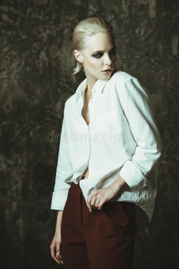 Glamourous fashionable lady stock photos