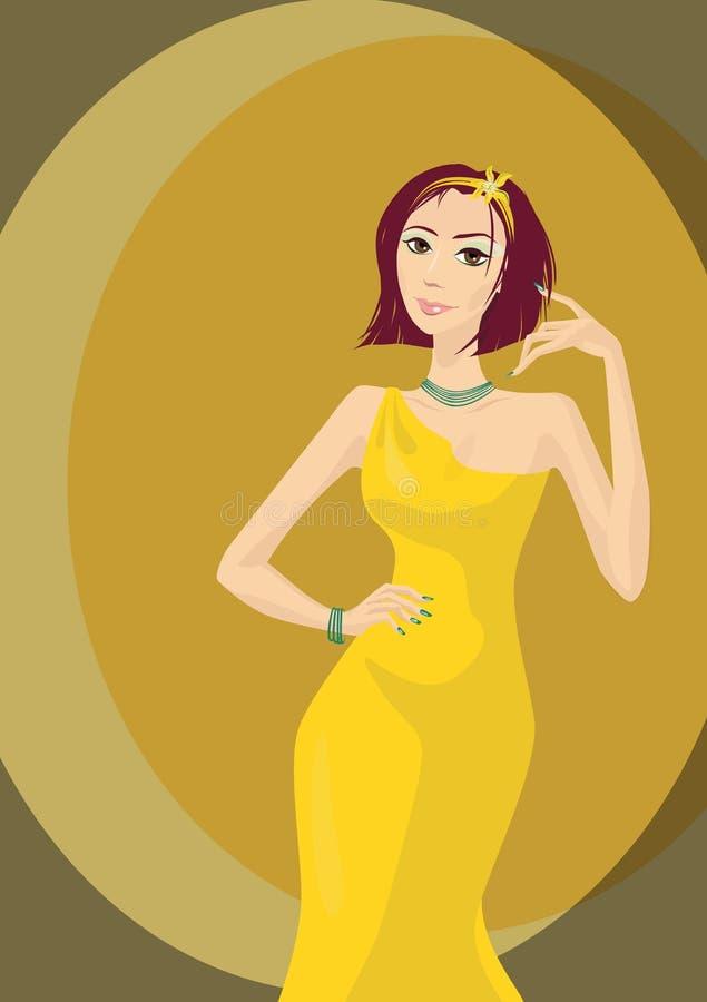 Free Glamourous Girl In Yellow Dress Stock Photos - 14931503
