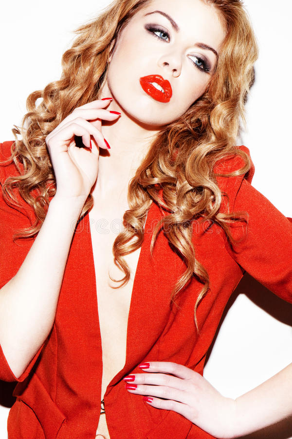 Download Glamourous Woman In Red stock photo. Image of colour - 23267708