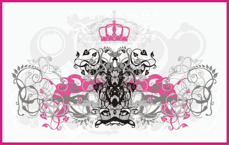 glamourprydnad stock illustrationer