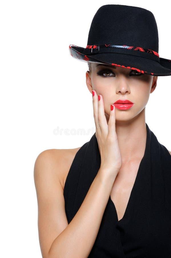 glamourståendekvinna royaltyfri fotografi
