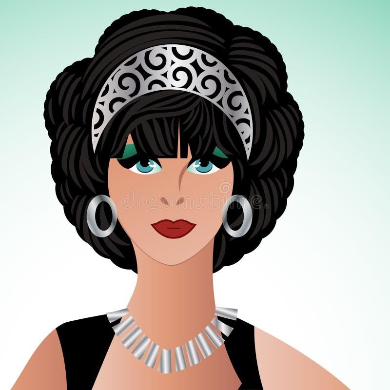 Glamourvrouw vector illustratie