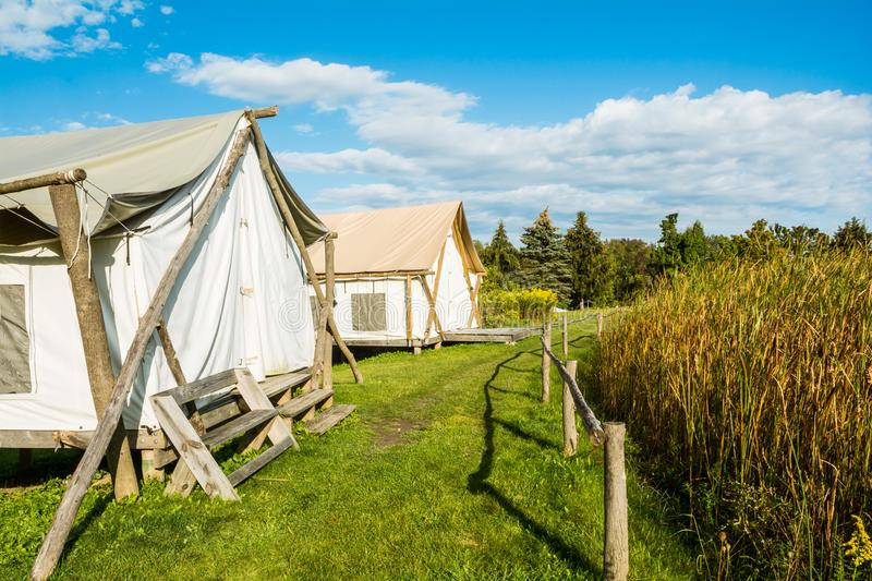 Glamping in New York royalty free stock images