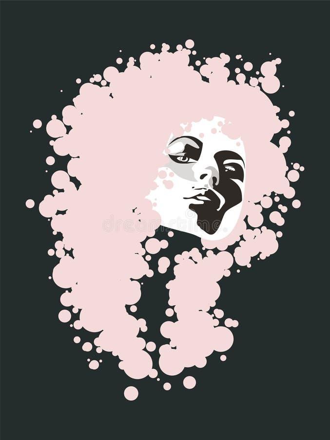 Download Glance girl stock vector. Illustration of pink, background - 12230644