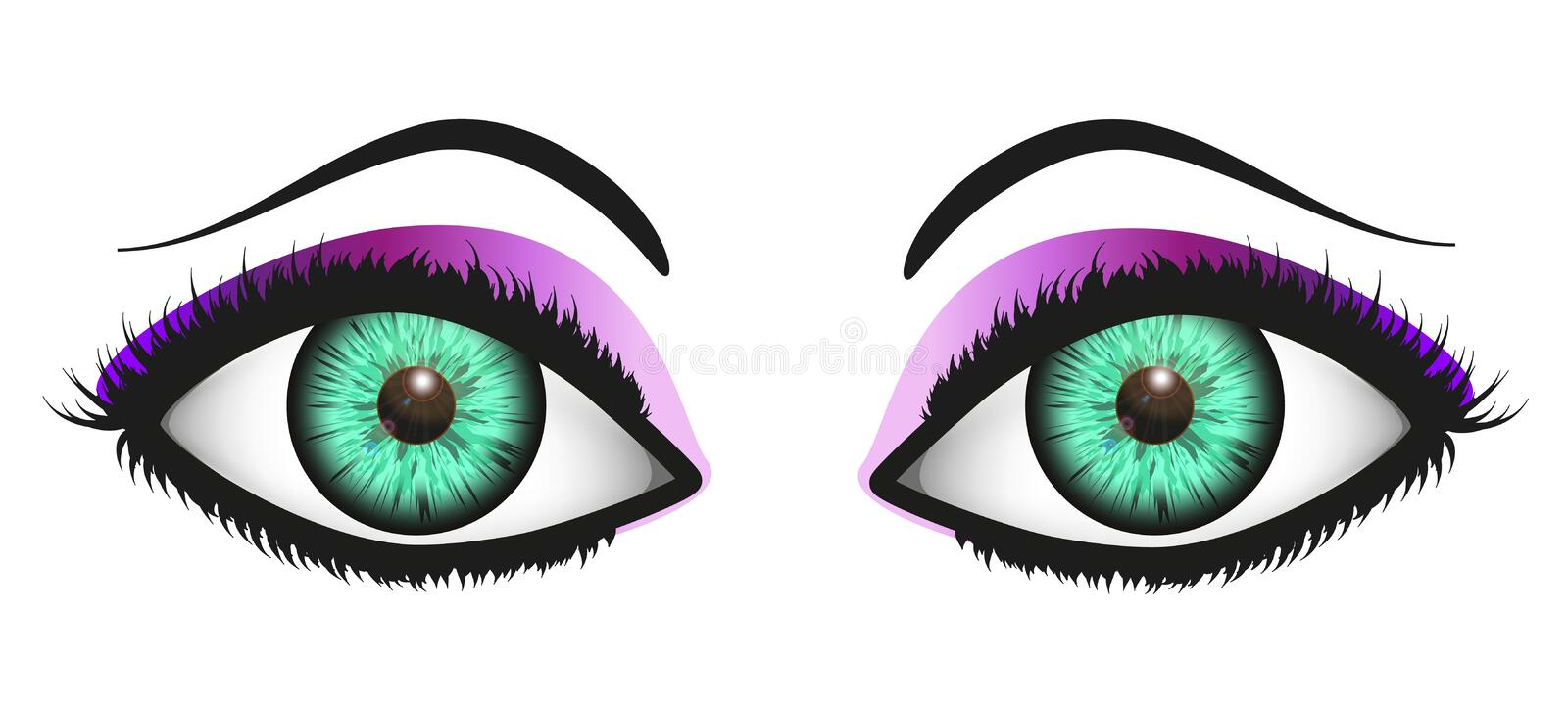 Download Glance of Woman (Green) stock photo. Image of up, violet - 34271540