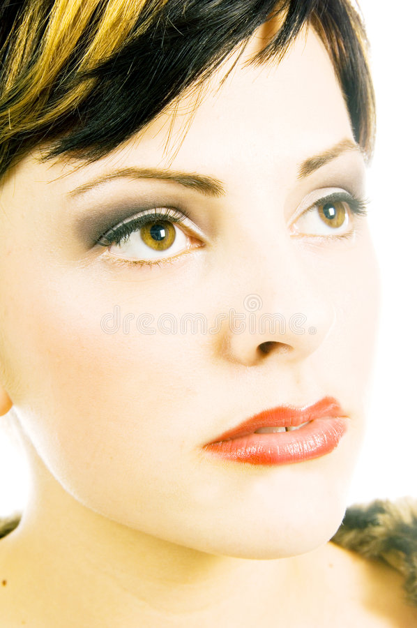 Glancing beauty stock photo