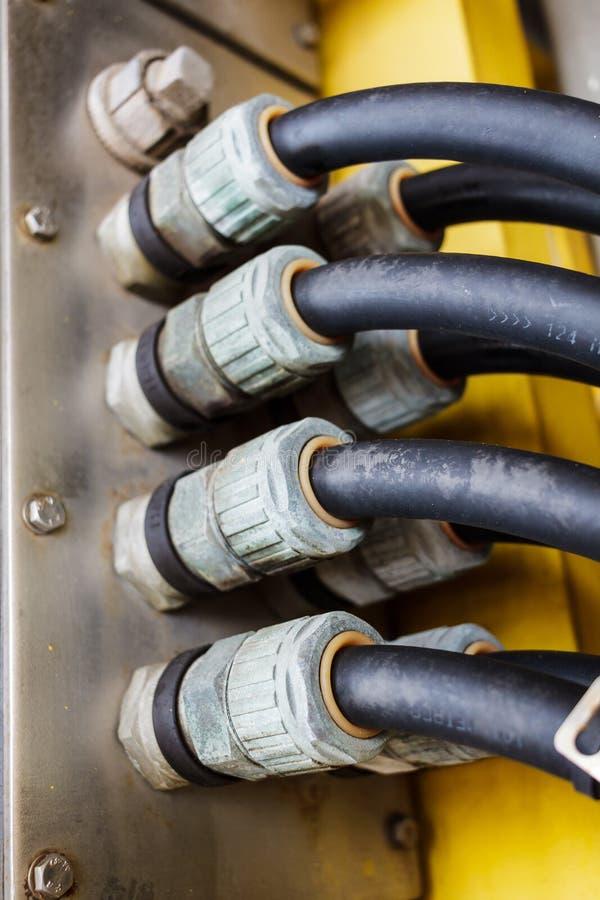 Glandes de câble électrique image libre de droits