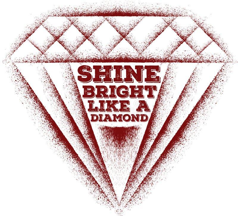 Glans helder als een diamant vector illustratie