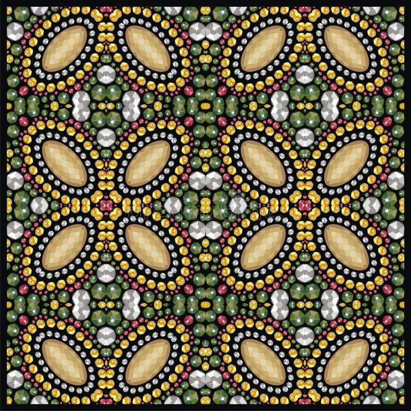 Glans manierpatroon van briljante stenen, bergkristallen stock illustratie
