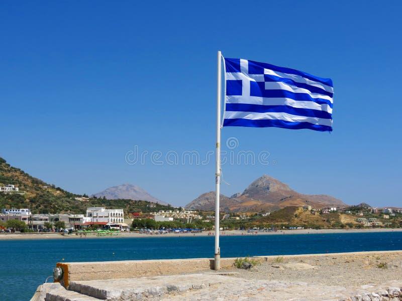 Glansen av Kreta och det nationella symbolet av Grekland arkivfoton