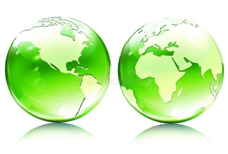 glansig översikt för jordjordklot stock illustrationer