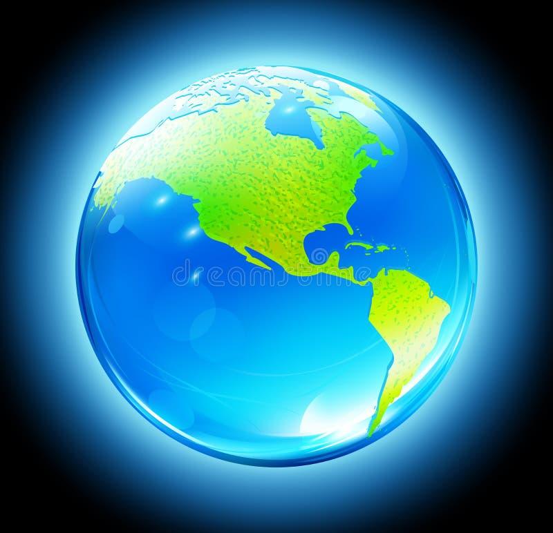 glansig översikt för jordjordklot vektor illustrationer