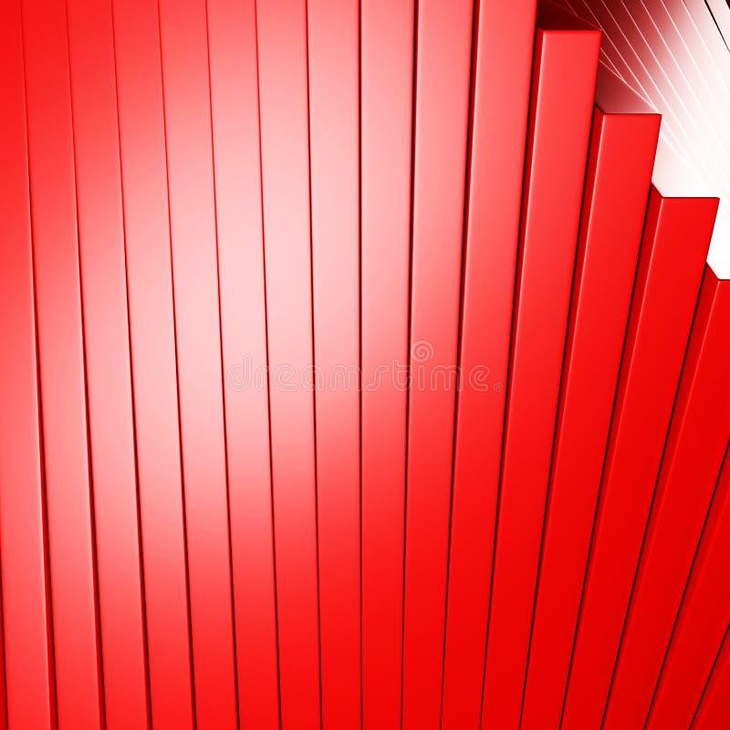 Glansig bakgrund för rött metalliskt bandabstrakt begrepp vektor illustrationer