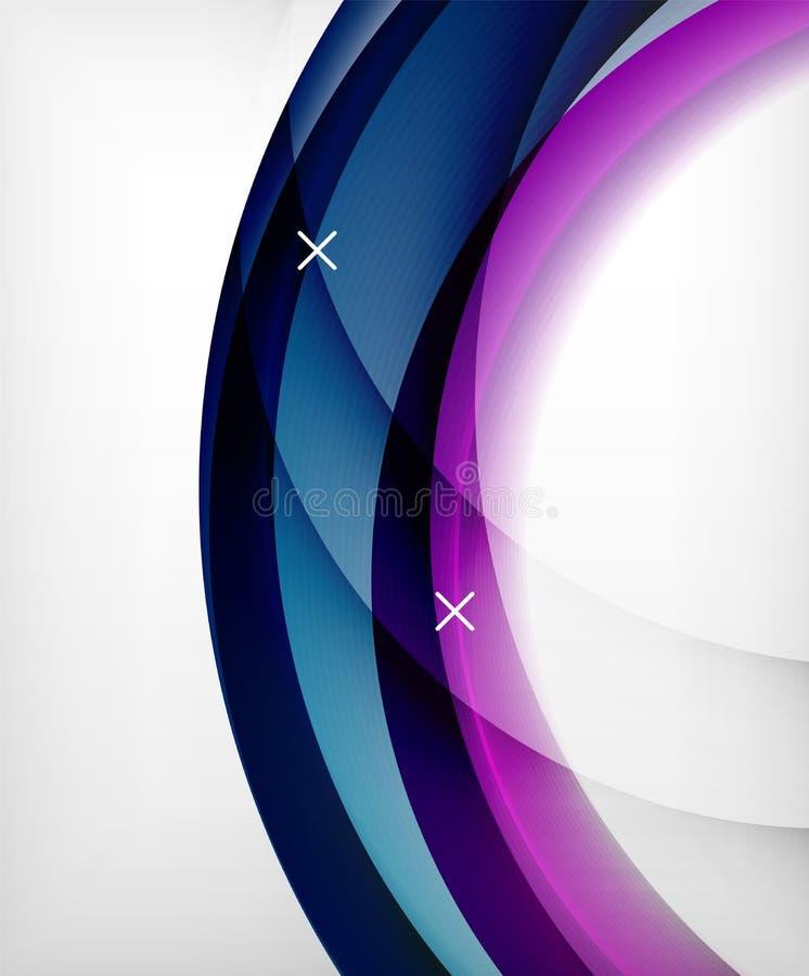 Glansig bakgrund för vågvektorn med ljus och skuggaeffekter, vitkors formar royaltyfri illustrationer