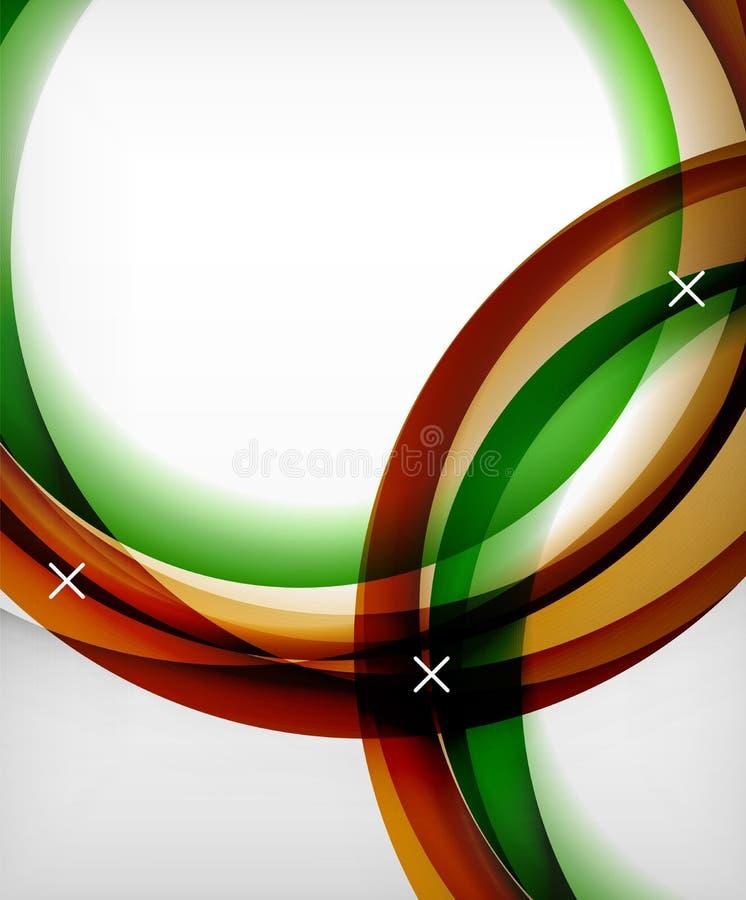 Glansig bakgrund för vågvektorn med ljus och skuggaeffekter, vitkors formar vektor illustrationer