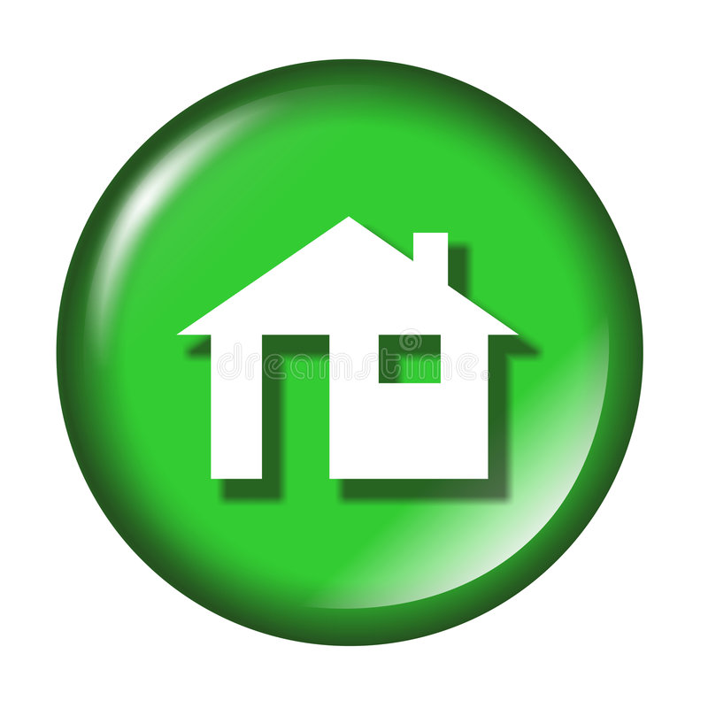 glansig home symbol stock illustrationer