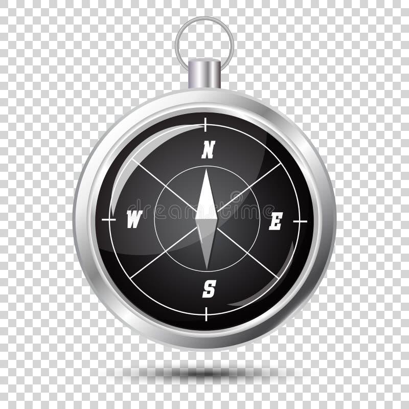 Glansig kompassvektor royaltyfri illustrationer