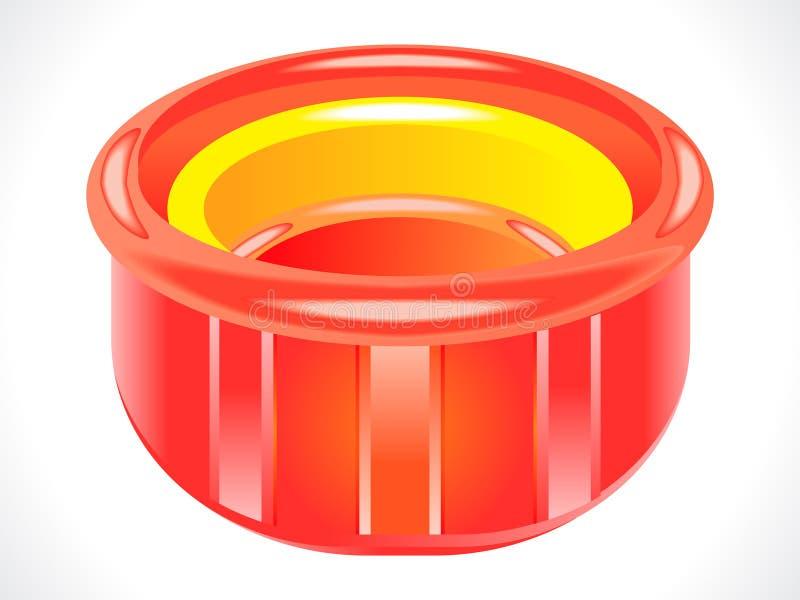 glansig plastic red badar royaltyfri illustrationer
