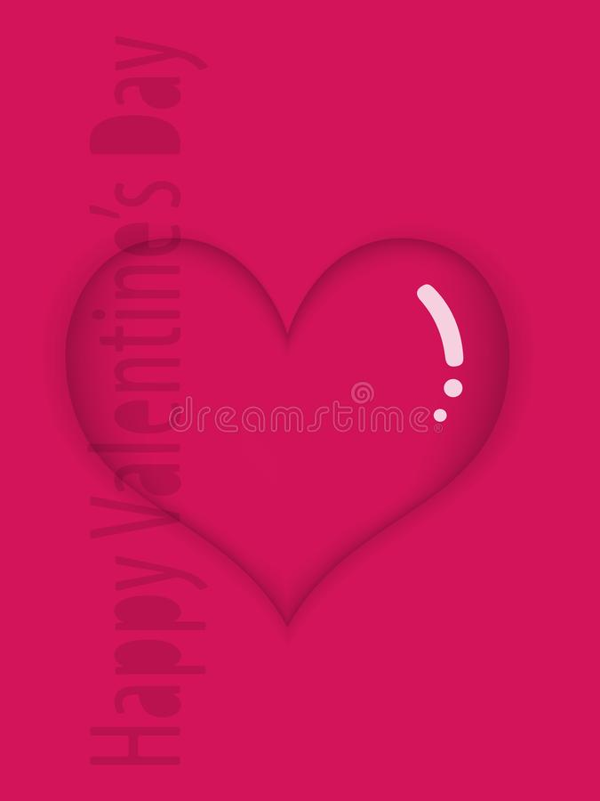 Glansig röd hjärta vektor illustrationer
