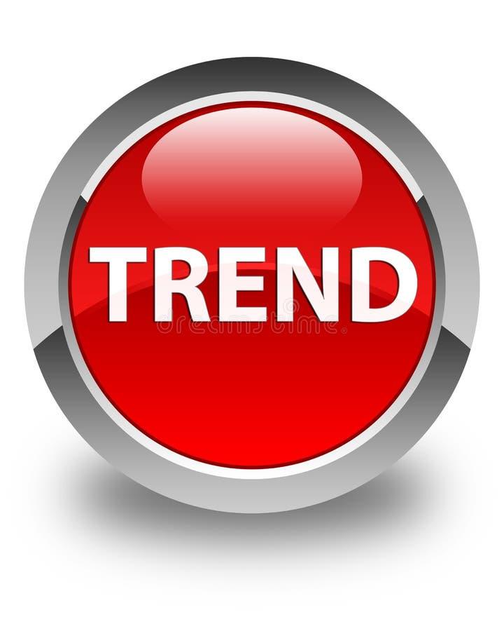 Glansig röd rund knapp för trend vektor illustrationer