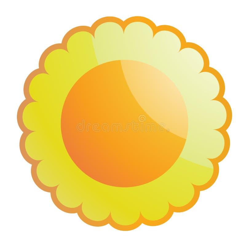 glansig sun stock illustrationer