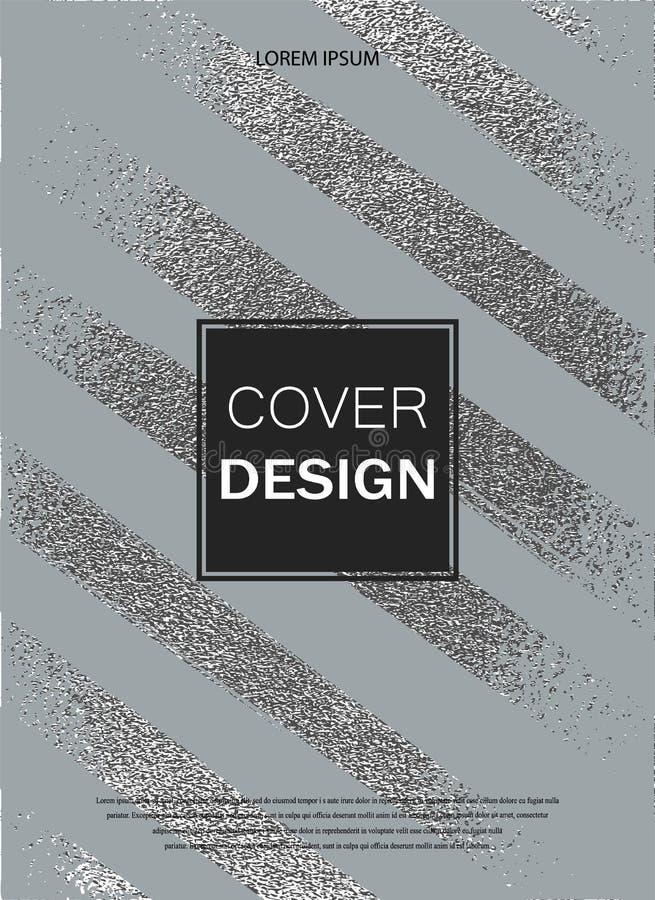Glansig textur för silver metallisk modell Argent Grungebakgrund stock illustrationer