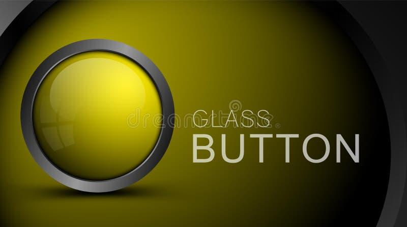 Glansig tom gul knapp för rengöringsdukdesign royaltyfri illustrationer