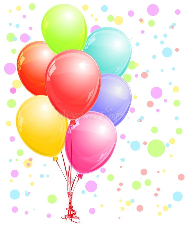 Glansiga ballonger stock illustrationer