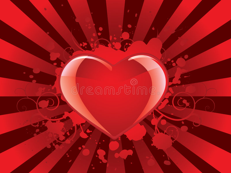 glansiga hjärtavalentiner för bakgrund stock illustrationer