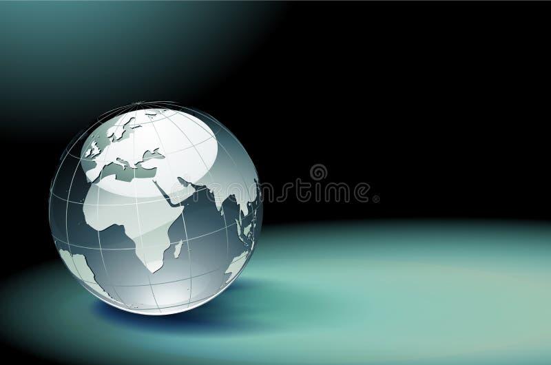 glansigt jordjordklot stock illustrationer