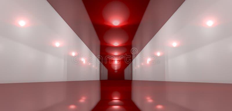 Glansigt rött rumperspektiv stock illustrationer