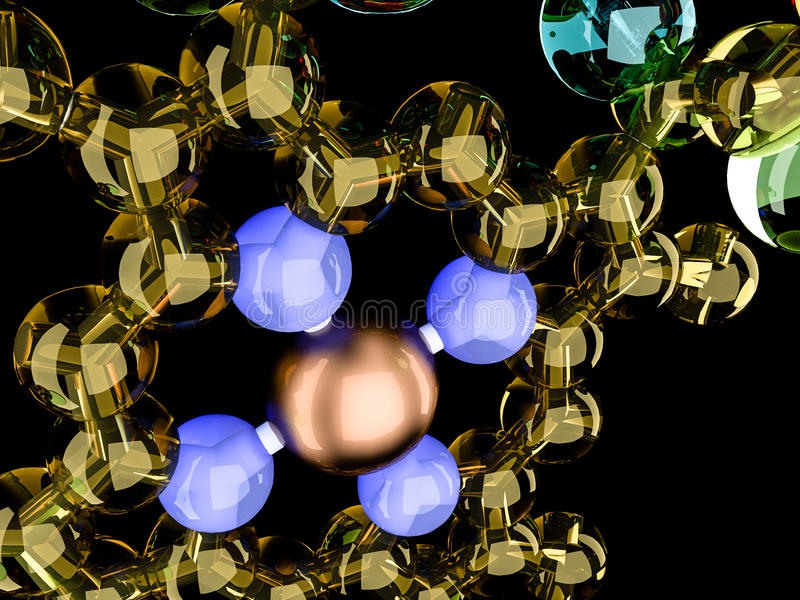 Glansowana atom struktura royalty ilustracja