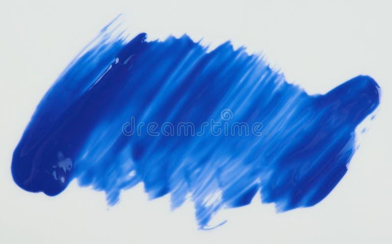 Glansowana błękitna farby plama odizolowywająca zdjęcie royalty free