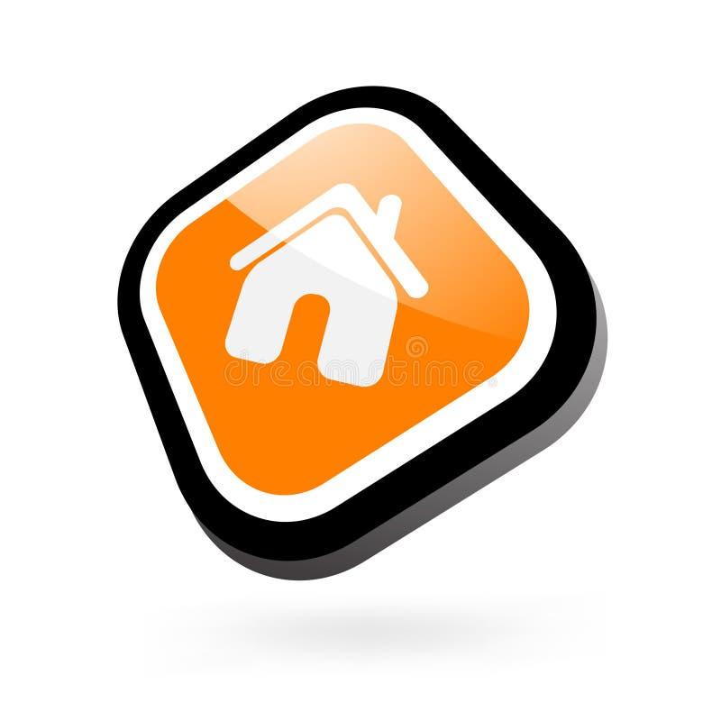 glansowana domowa ikona ilustracji