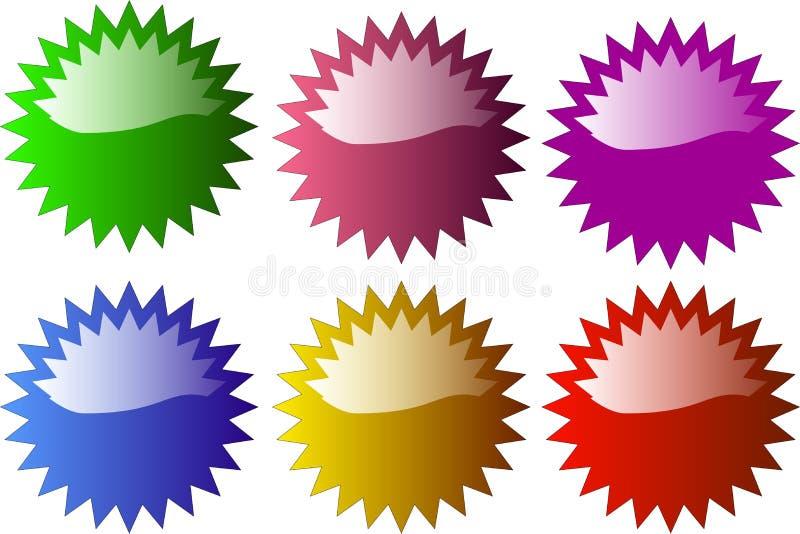 Glansowana gwiazda kształtująca odznaka ilustracja wektor