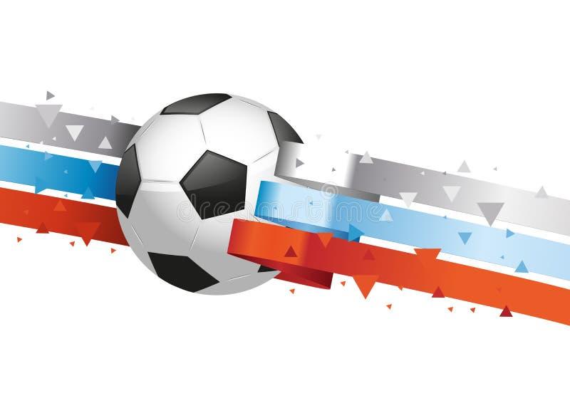 Glansowana piłka z rosjanin flaga ilustracja wektor