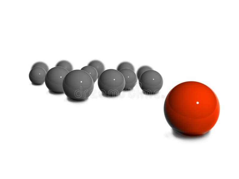 glansowana piłki czerwień ilustracji