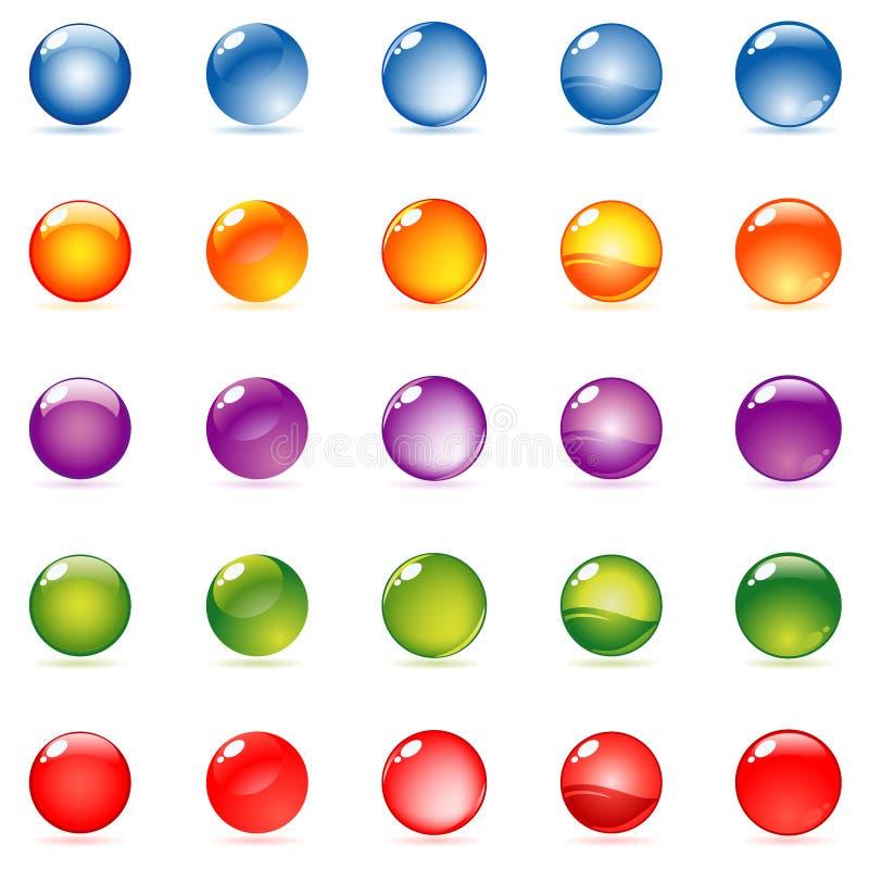 Download Glansowana sfera ilustracja wektor. Obraz złożonej z glansowany - 12107270
