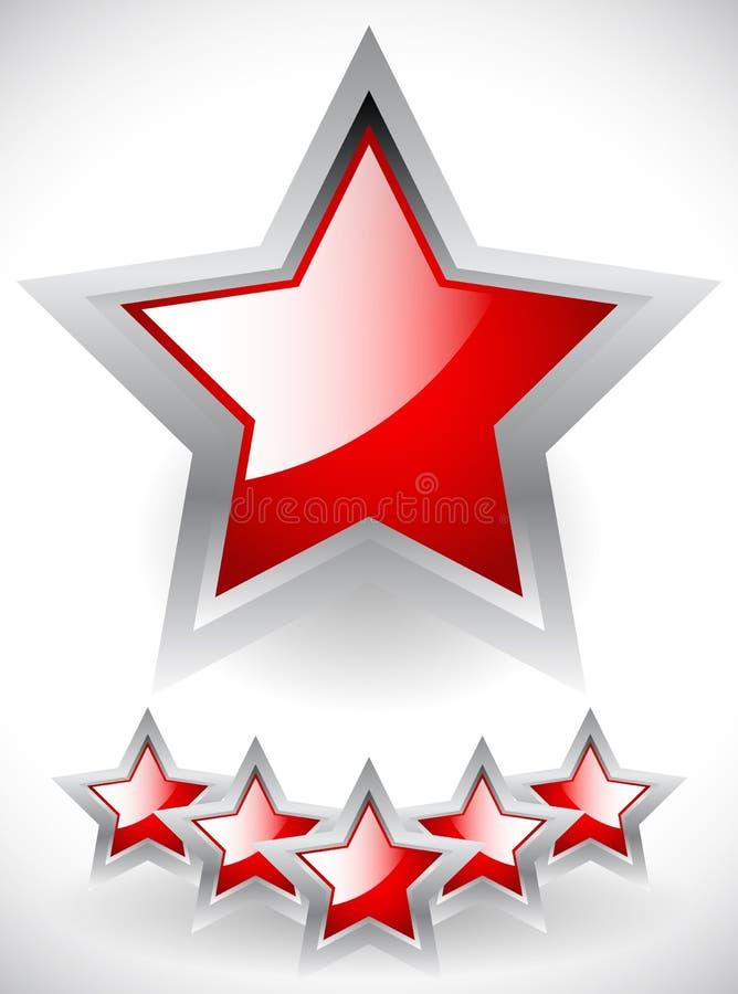 Glansowane rewolucjonistek gwiazdy z szarości ramą royalty ilustracja