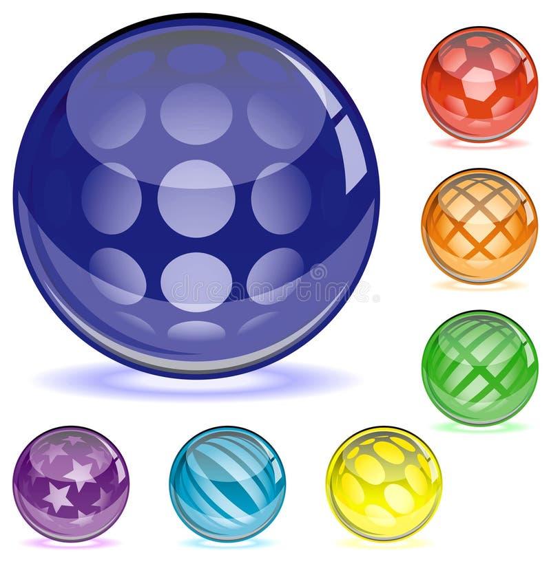 Download Glansowane sfery ilustracja wektor. Ilustracja złożonej z okrąg - 13339857