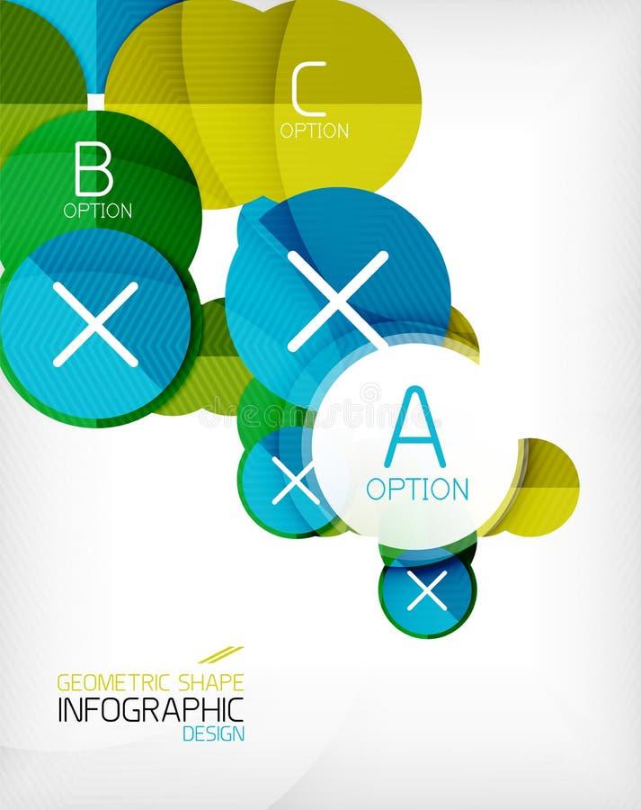 Glansowanego okręgu kształta informaci geometryczny tło ilustracja wektor