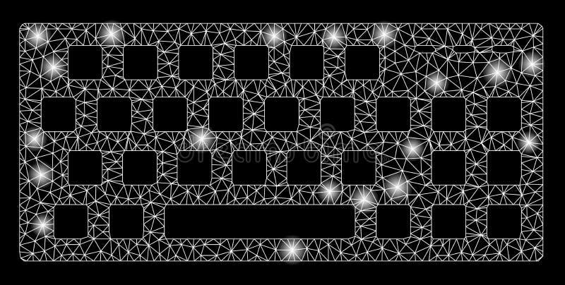 Glansowanej siatki 2D klawiatura z Błyskowymi punktami ilustracji