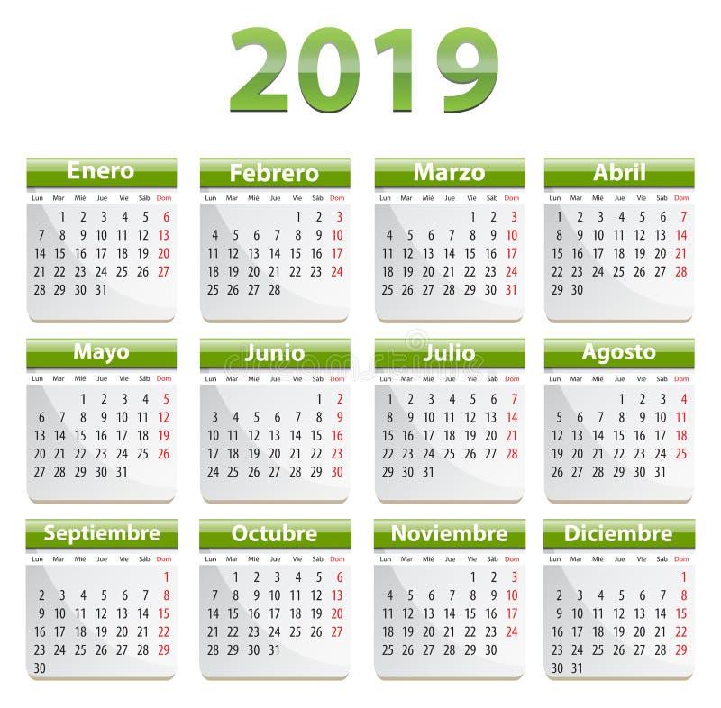 2019 glansowani i hiszpańszczyzny porządkują zieleń ilustracji