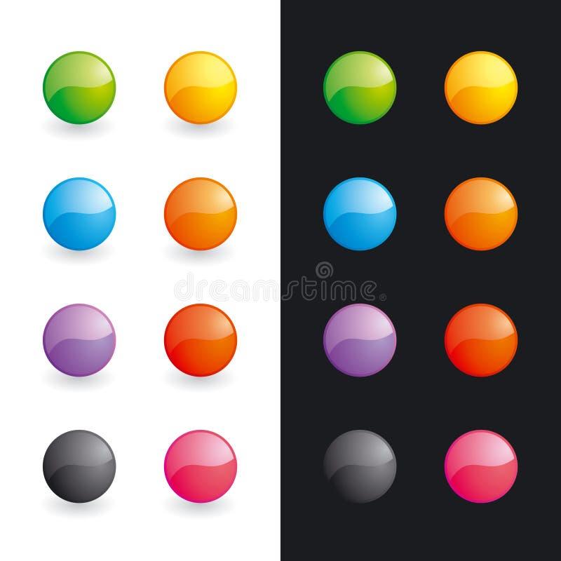 glansowani piłka guziki ilustracja wektor