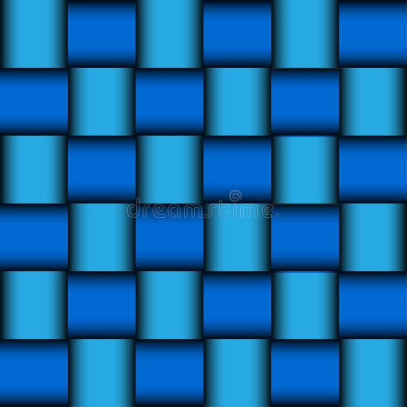 Glansowany błękitny mozaiki tło ilustracja wektor