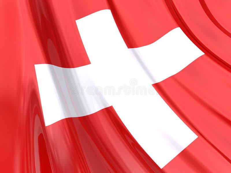 glansowany bandery Szwajcarii ilustracja wektor
