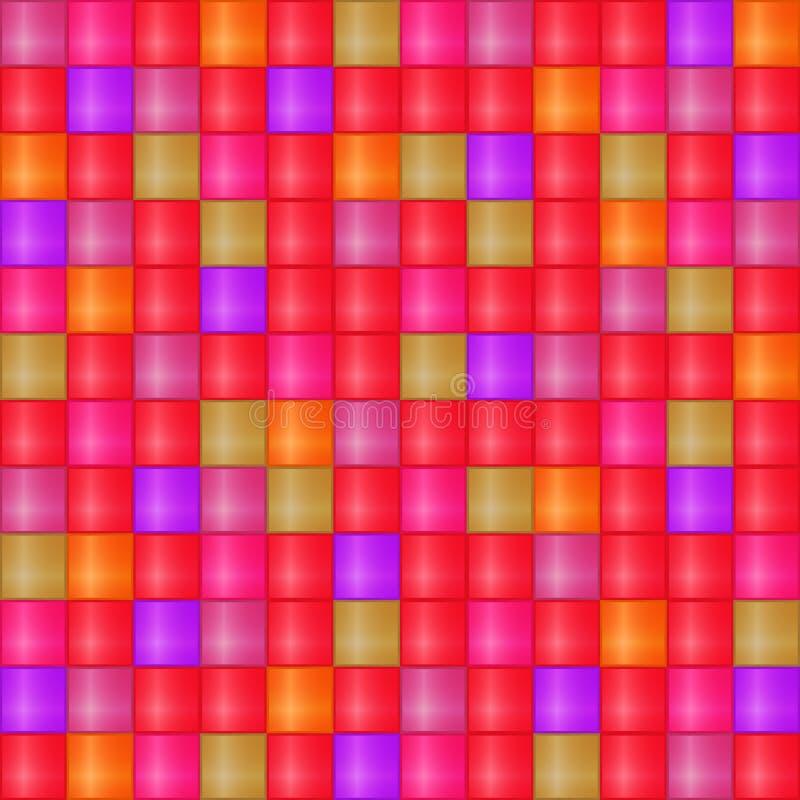 Glansowany Bezszwowy mozaiki komórki wzór ilustracji