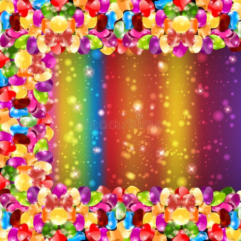 Glansowany cukierku koloru tęczy tło ilustracja wektor