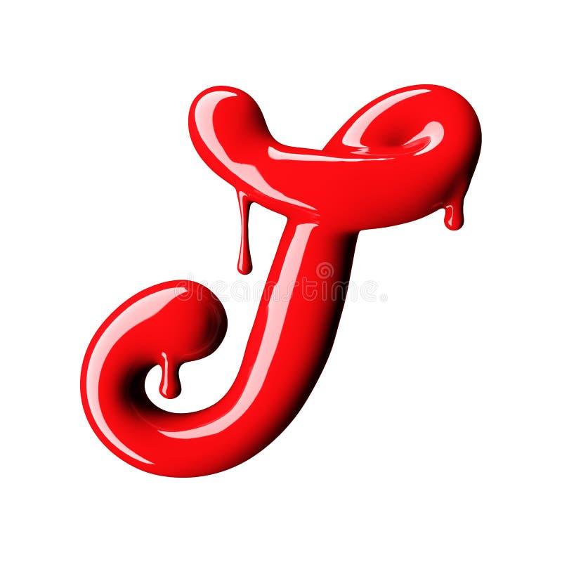 Glansowany czerwień listu T uppercase świadczenia 3 d ilustracji