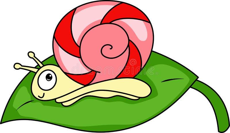 Glansowany czerwieni spirali cukierku ślimaczek royalty ilustracja